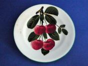 Small Wemyss Ware 'Cherries' Plate c1910